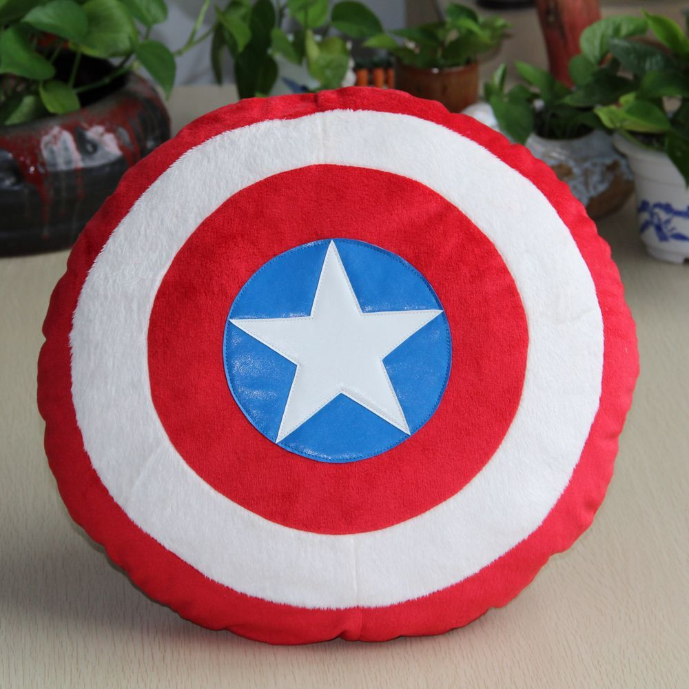 The Avengers Toys Superheroes Captain America 2 Shields Plush Pillow Doll Toys Classic Toys