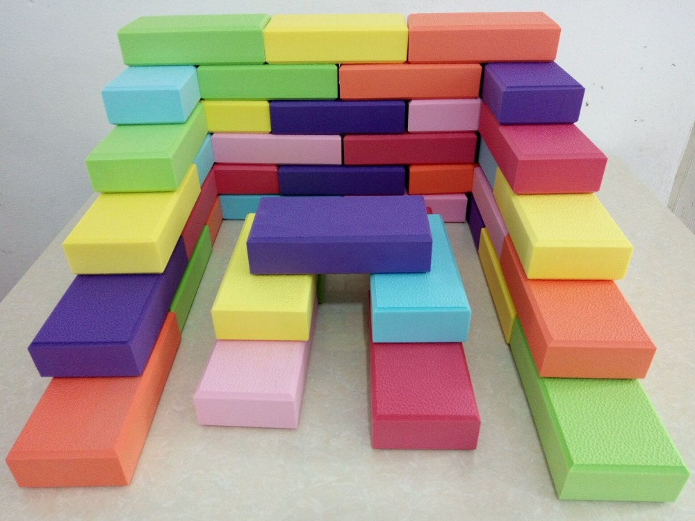 large EVA building block games for play center,amusement indoor playground soft toy bricks,children play medium-size EVA block baby air hockey coin operated ticket redemption games for play center