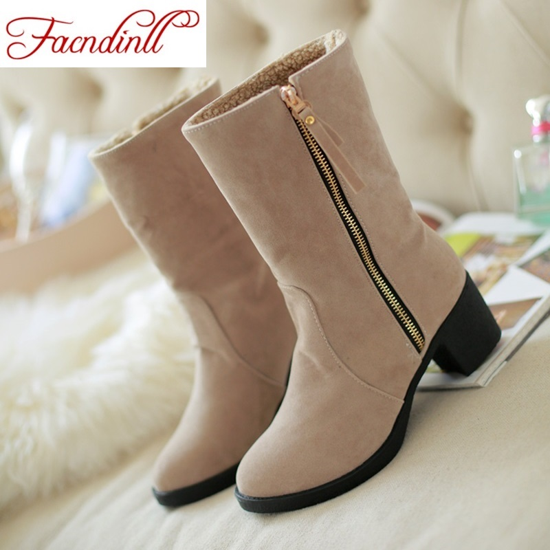 ФОТО fashion winter boots new women shoes rome style riding boots for women plus size 34-43 suede winter women's warm snow boots