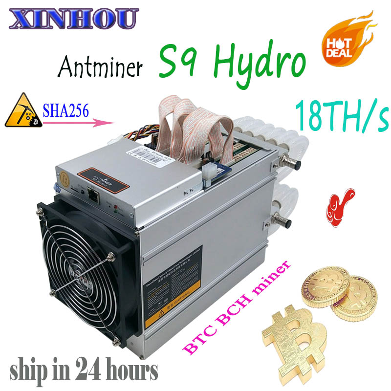 Newest Water Cooling Asic miner AntMiner S9 Hydro 18TH/s SHA256 BTC BCH  mining Better than S9 T9 z9 DR5 D5 Whatsminer M3 M10 A9