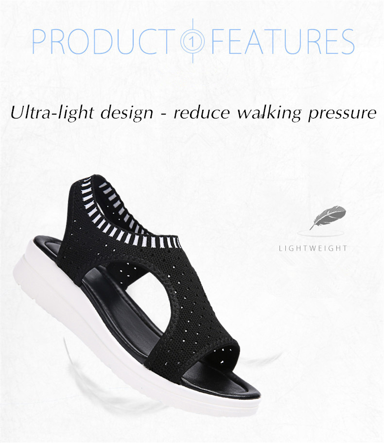 ZUNYU New 9 colors Woman Flat Summer Shoes Fashion Women's Sandals Wedge Comfortable Sandals Ladies Sexy Sandals Plus Size 35-45