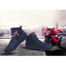 2014 Hot Men Ankle Leather Racing Touring Motorcycle Motorbike Short Boots Black [PB67-PB72]
