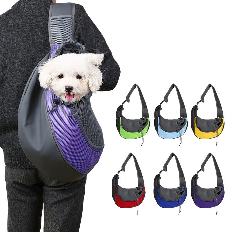 @ ELE Respirável Pet Portador Do Cão de Viagem Tote Sacos Ao Ar Livre Cão de Estimação Gato Transportadora Frente Malha Ombros Único Conforto de Viagem saco