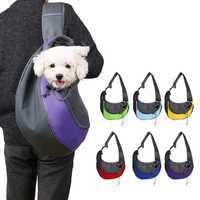 @ HE transpirable mascota perro portador viaje bolso solo hombros bolsos al aire libre mascota perro gato transporte frontal malla comodidad viaje bolsa