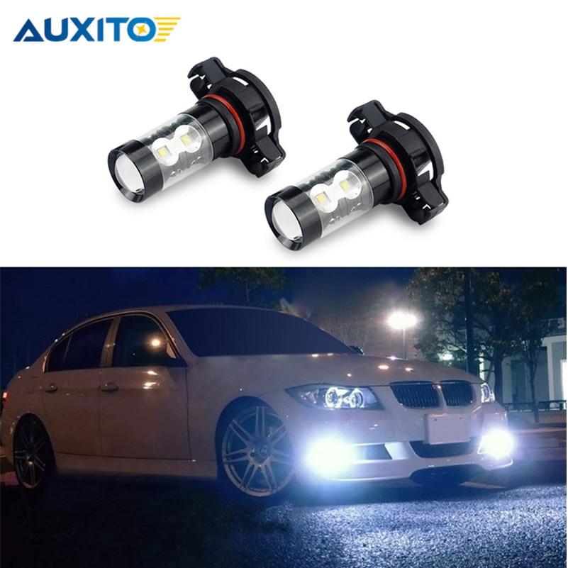 AUXITO White PSX24W 2504 LED DRL Car Fog Light Bulb For Subaru Impreza VW Polo Golf 4 5 Tiguan Routan Ram Dakota Toyota Corolla