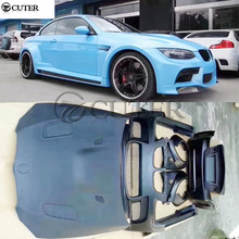 E92 E93 coupe FRP Wide car body kit front bumper rear side skirts engine hood for BMW Vorsteiner style 08-13
