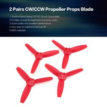 hot!2 Pairs CW/CCW Propeller Props Blade for Parrot Bebop 3.0 RC Drone Quadcopter Aircraft UAV Spare Parts Accessories Component цена 2017