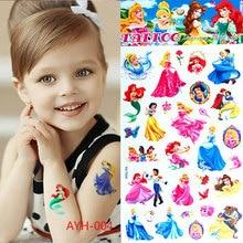 The new children's cartoon waterproof temporary tattoo stickers Elsa Anna henna body art tattoo flash car styling Wall Stickers