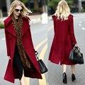 Vintage wool coat manteau femme hiver 2017 winter palto casaco feminino