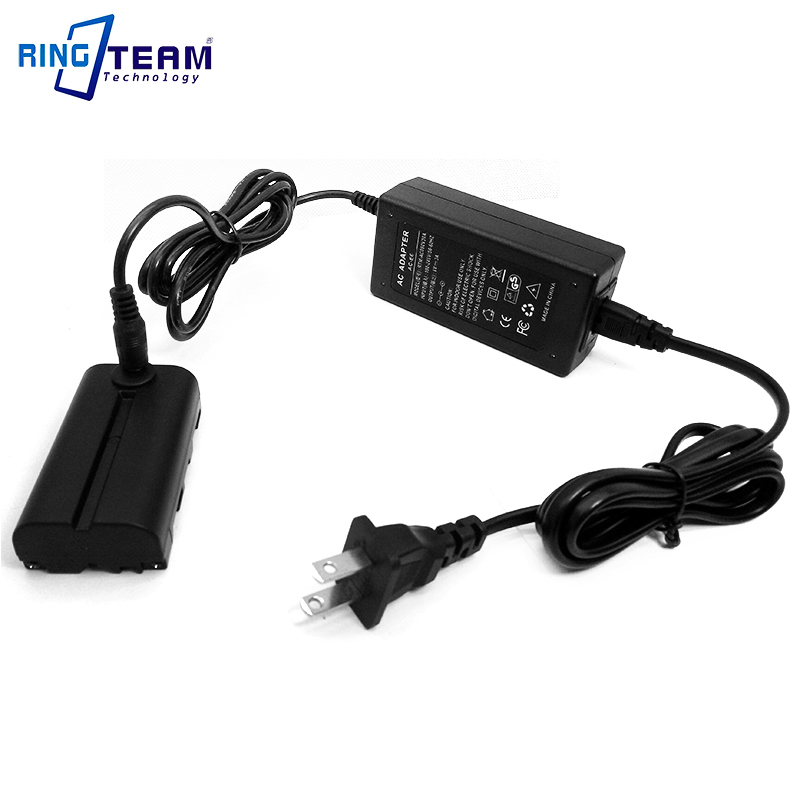 8V AC Power Adapter Plus NP F550 Dummy Battery Replace NP F970 F750 F570 for Viltrox Godox Neewer YongNuo NanGuan Photo Lights in AC DC Adapters from Consumer Electronics