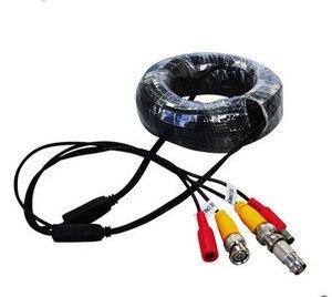 15 м CCTV кабель BNC видео кабель питания для камеры видеонаблюдения DVR системы комплект CCTV аксессуары