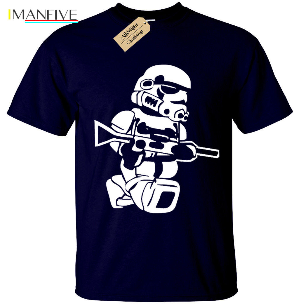 LEGO TROOPER Mens T Shirt BIG PRINT storm wars jedi vader star yoda funny top Free shipping Unique Cotton O Neck T Shirt in T Shirts from Men 39 s Clothing