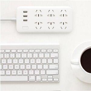 Image 3 - XiaoMi Mi Smart Power Strip 6 Ports with 3 USB Fast Charging 2.1A USB Power Plug Charger Socket US UK EU AU Power strip H15