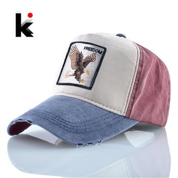 Embroidery Eagle Baseball Caps Men Spring Autumn Cotton Dad Hat For Women Fashion Washed Denim Casquette Snapback Hip Hop Bone 1