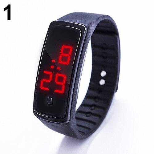 LED Watch Fashion Sport Digital Watch Silicone Running Bracelet Wrist Watch