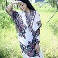 2017 Nueva moda de primavera y verano bufandas de algodón pastoral caliente suave mantón de la bufanda protector solar ocasional retro de doble uso echarpe hiver femme