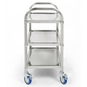 Image 3 - Carlito cocino chariot de cuisine à 3 niveaux, chariot de cuisine, Restaurant, grand de traiteur en acier inoxydable, HWC