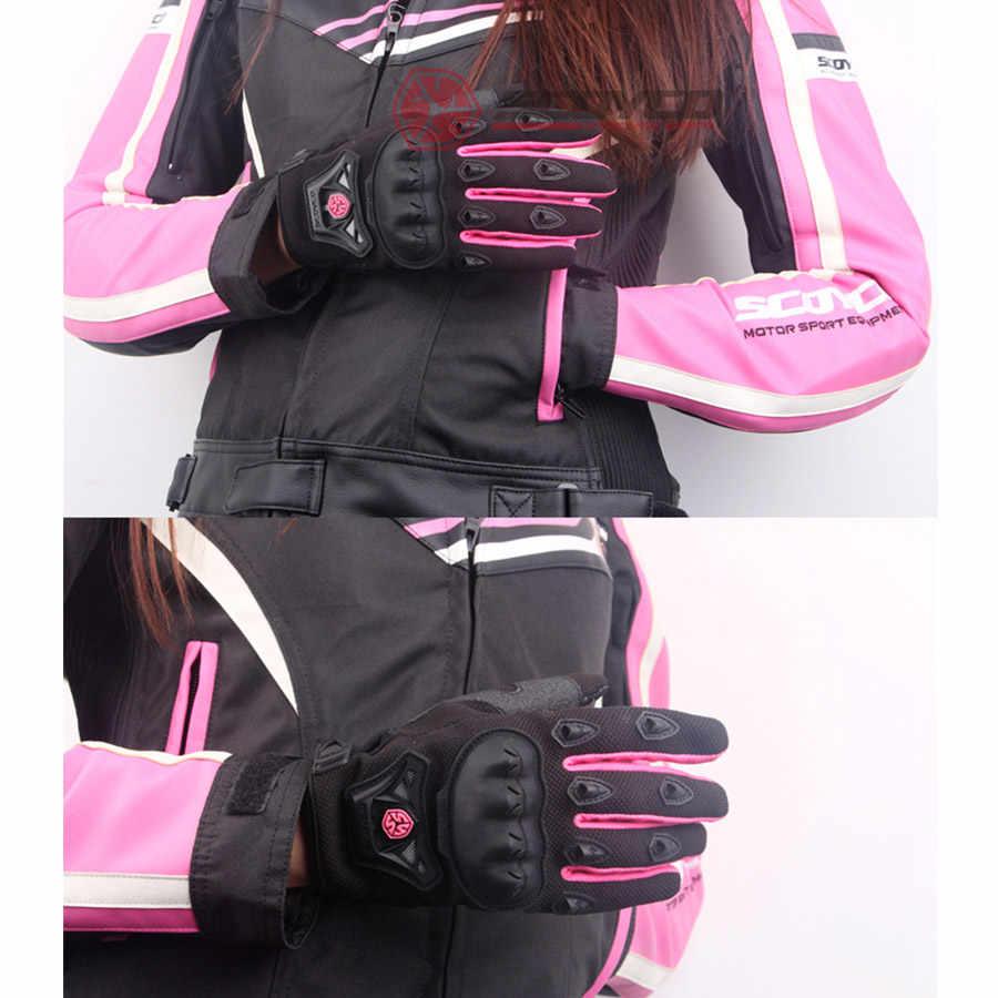 XuBa Guantes de Moto Unisex para Verano Transpirables protecci/ón Antideslizante Pantalla t/áctil