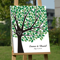 Personalized Baby Shower Guest book Wedding Signature Guest Book Canvas Fingerprint Tree Guest Book Custom Guestbook for Wedding