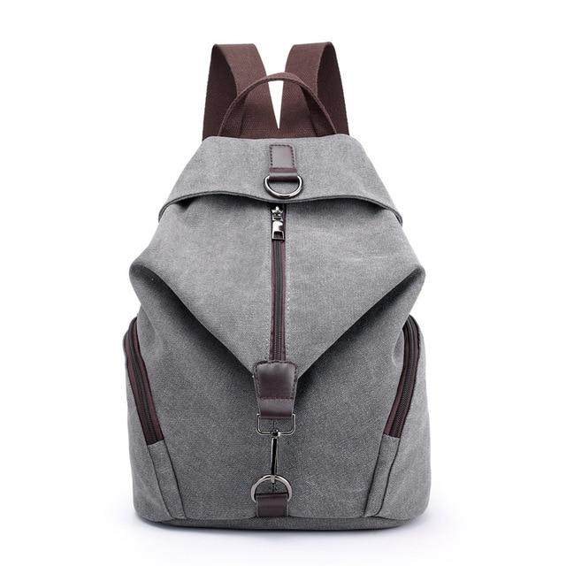 c2d1f2d64b1a Fashion Casual Canvas Women Backpack Solid Large Capacity Female Backpacks  Brand Designer Zipper Travel Bag Girl