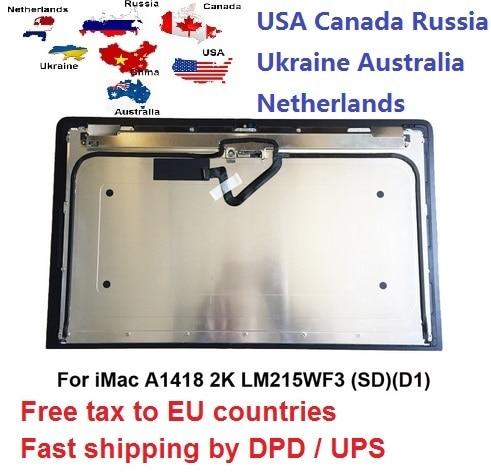 "NEW LCD Screen Display for iMac 21.5"" A1418 2k lcd screen LM215WF3(SD)(D1) D2 D3 D4 D5"