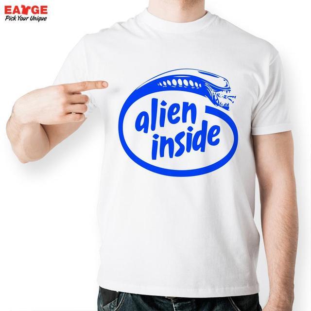White T Shirt Design Ideas business Eatge 2016 New Design Cool Blue Logo Alien Inside T Shirt Brand Men White Eatge 2016 New Design Cool Blue Logo Alien Inside T Shirt Brand Men White