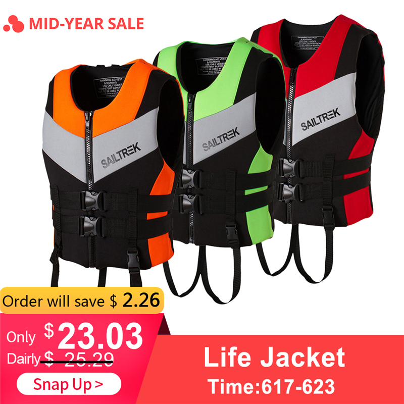2019 Water Sports Fishing Vest Adult Life Jacket Neoprene Life Vest Kayaking Boating Swimming Drifting Safety Life Vest New
