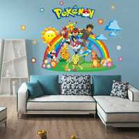 New Arrival Pokemon Go Wall Stickers for Kids Rooms Home Decorations Pikachu Wall Decal Amination Poster Wall Art Wallpaper Kids