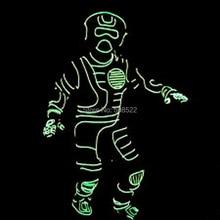 EL draht trikot für leistung/bühne tanzen/leucht ohne schuhe, Design auftrag