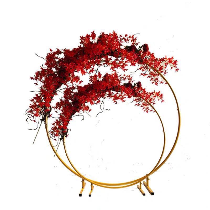 Ślubne łuk okrągły kutego żelaza półka ściana tła balon uchwyt półka kwiatowa DIY roślin ściana Wedding Party Supplies