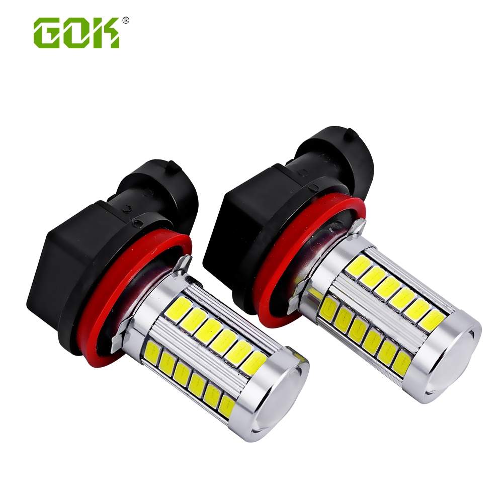 2pcs White LED H11 H8 LED 33smd 5730 HB3/9005 H16 9006/HB4 LED High Power 33SMD Car Fog Bulb Daytime Running Light DRL Lamp 2x car led 9006 hb4 5630 33 smd led fog lamp daytime running light bulb turning parking fog braking bulb white external lights