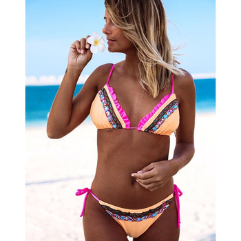 LI-FI Ruffle Back Bikini Swimsuit 6