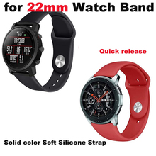 22mm Bracelet Strap For Xiaomi Huami Amazfit GTR 47mm Pace Stratos 2 Watch Band For Samsung Gear S3 Galaxy 46mm Silicone Correa amazfit leather bracelet watch band 22mm for xiaomi huami amazfit pace stratos 2 correa wrist strap for samsung gear frontier s3