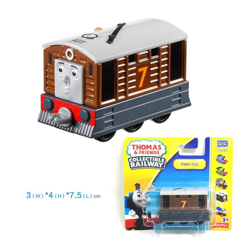 x119 Gift 1: 64 Vehicles Diecasts Thomas with hook TOBY Thomas And Friends Magnetic Thomas Truck Engine Train Toys For Boys