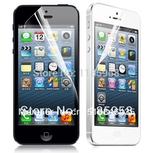 Free shipping high clear for iphone 5 5s screen protector front and back protective film with