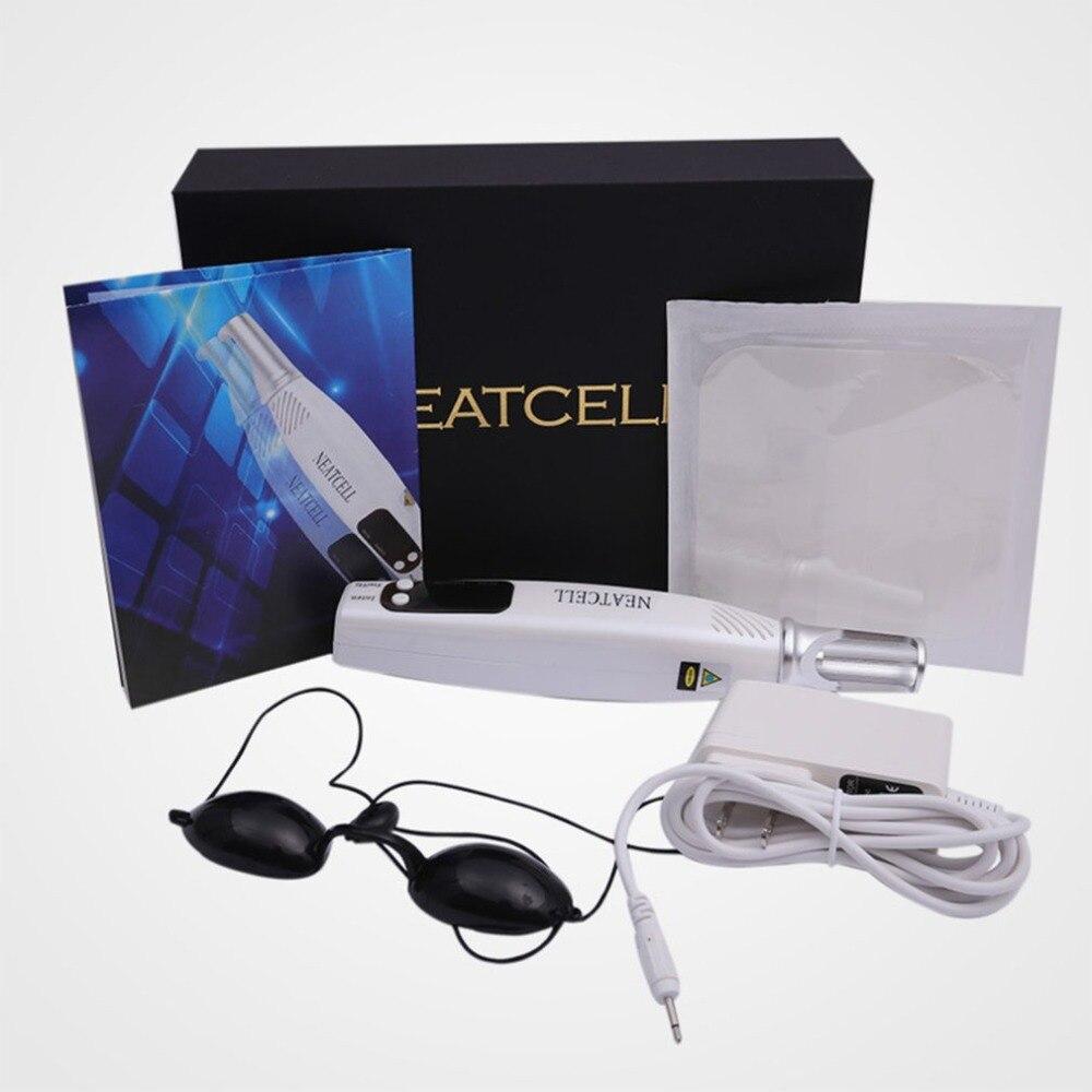 Machine portative de traitement d'acné de Laser de colorant de sourcil de tache foncée de taupe pour la beauté