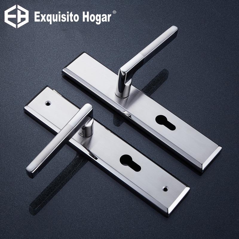 Stainless Steel 304 Door Lock Indoor Center Hole 72 Room  Bedroom Lever Handle Lock Wooden Door Lock
