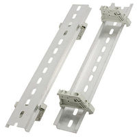 Industrial Plastic End Stoppers 9 8 250mm Slotted Aluminum DIN Rail 5 Sets