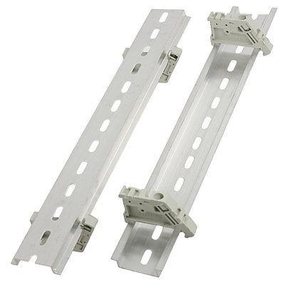 """Industrial de Plástico Rolhas Finais + 9.8 """"250mm De Alumínio Com Fenda DIN Rail 5 Conjuntos"""