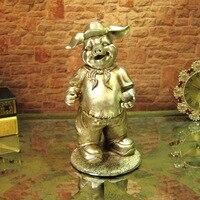 Мультфильм свинья украшения дома аксессуары смолы ремесел домашнего интерьера офиса украшения подарок