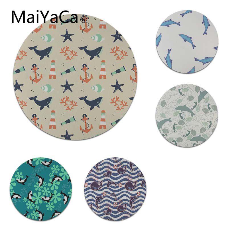 MaiYaCa Нескользящие PC Дельфин Starfish геймер Скорость мыши розничной маленький резиновый коврик Размеры для 20x20 см 22x22 см резиновые для мышей