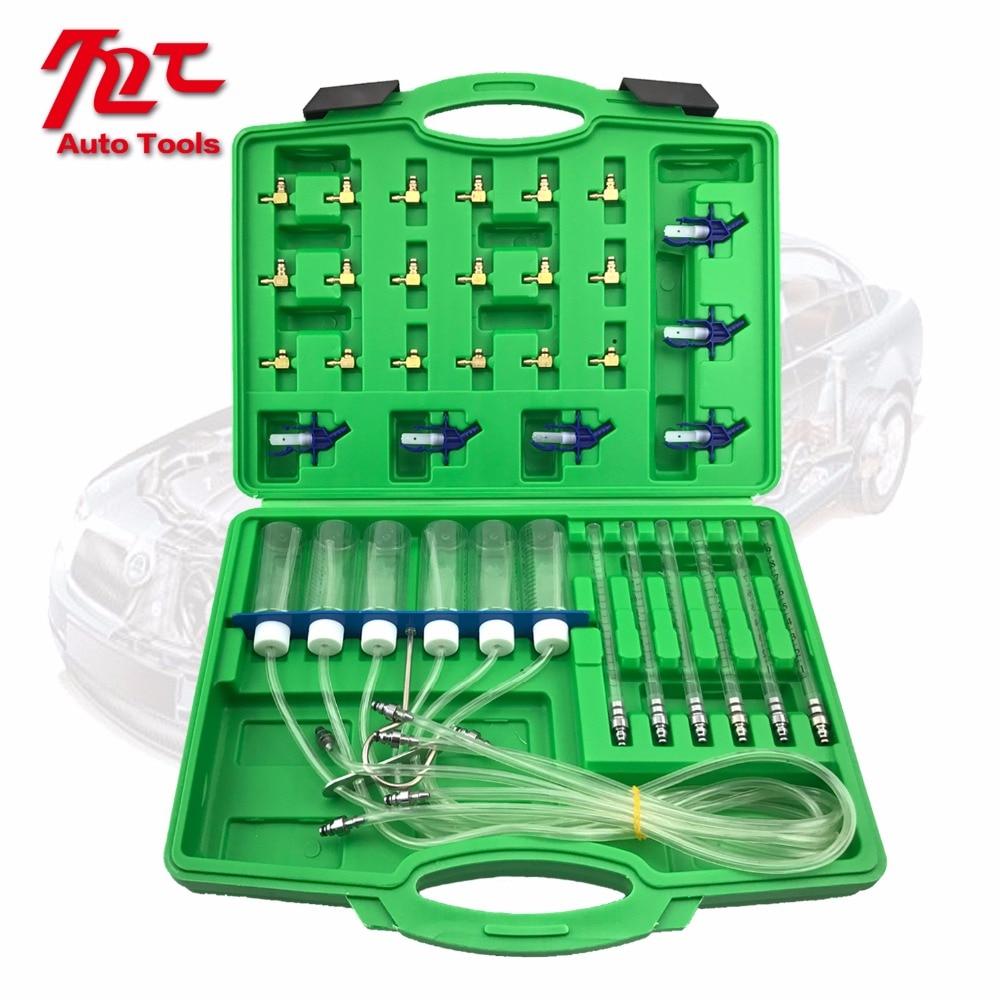 Diesel Injector Flow Meter Test Kit Common Rail Adaptor Fuel Tester Set Tools