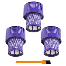 3Pcs Washable Filter Unit For Dyson V10 Sv12 Cyclone Absolute Total Clean Vacuum Cleaner washable filter unit for dyson v10 sv12 replacements cyclone animal absolute total clean vacuum cleaner