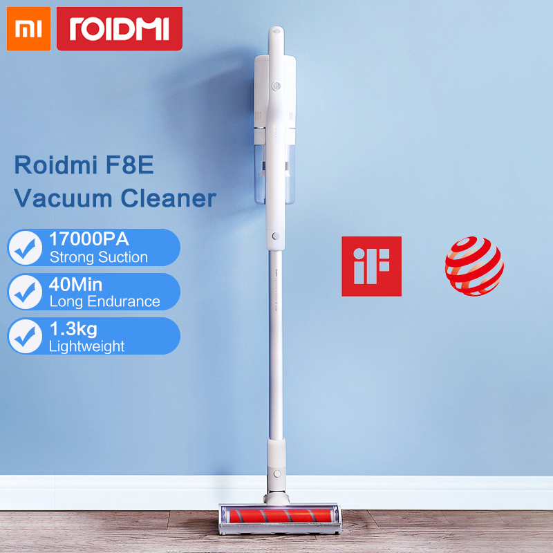 Original Xiaomi Roidmi F8E Handheld Wireless Vacuum Cleaner for Home Dust Collector Aspirador Low Noise Multifunctional Brush