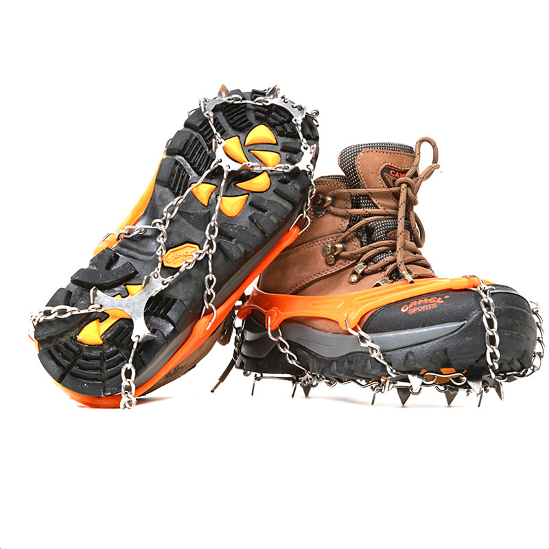 Winter Hiking Crampon Anti Slip Shoes Harness Chain Cover Ski Ice Snow Accessory