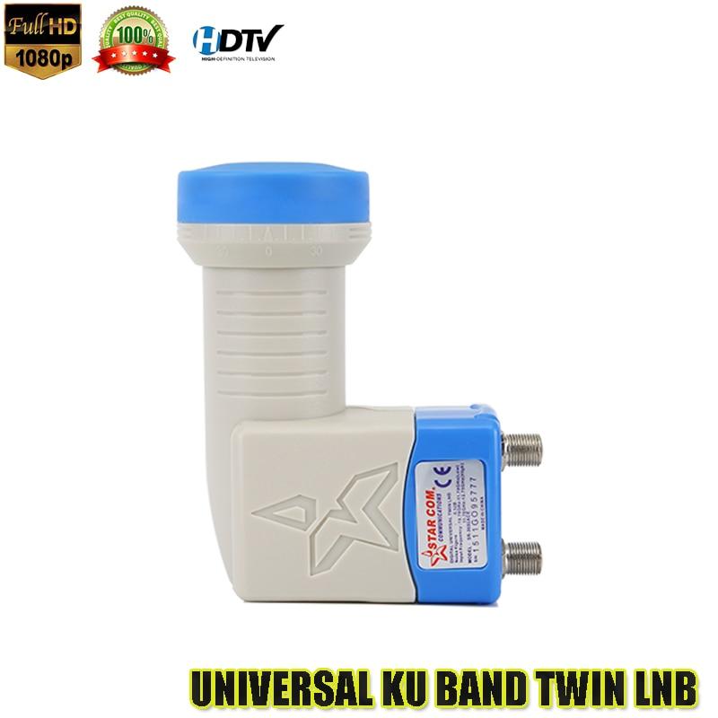 4 unids universal banda Ku doble LNB alta ganancia de bajo ruido 0.1db LNB Universal HD digital Ku banda gemela LNB TV vía satélite dvbs2 LNB