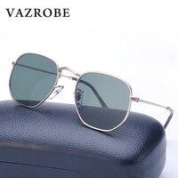 Vazrobe Small Hexagonal Sunglasses Men Women Vintage Hexagon Glasses Cool Color Lens Metal Sunglass 2017 Brand