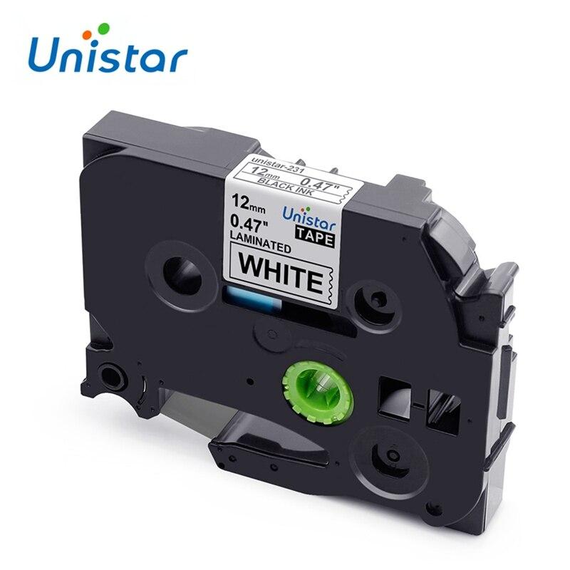 Unistar Tze 231 Tz231 TZe-231 Compatible With Brother P-touch Label Tape 12mm Multicolor For PT-H110 PT-D600 PT-1000 Label Maker