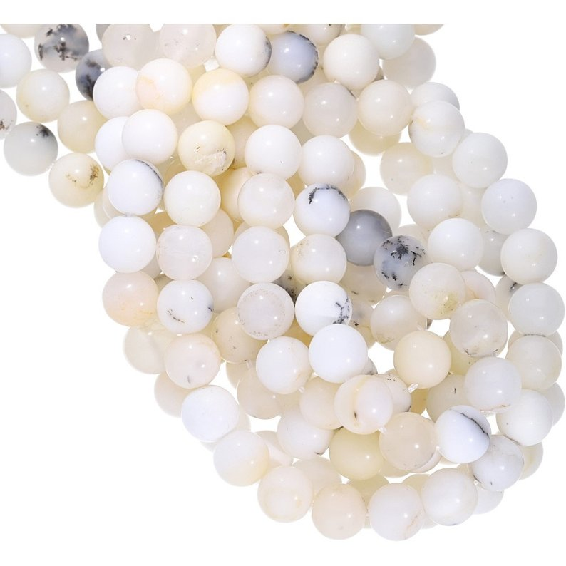 """100/% Natural Gemstone Pink Opal Round Spacer Loose Beads 4mm 6mm 8mm 10mm 15.5/"""""""