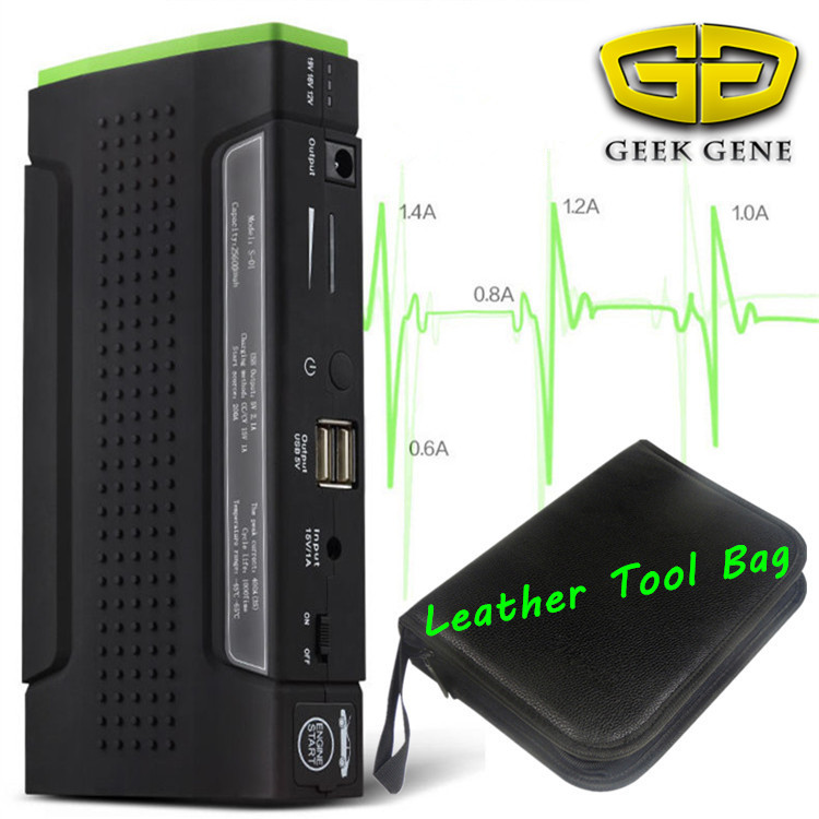 ФОТО Best seller Upgraded Car Jump Starter Emergency Battery Charger 12V Multiportable Phone Laptop Power Bank Drop Ship